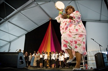 Loved visiting the Gospel tent at Jazz Fest in New Orleans.