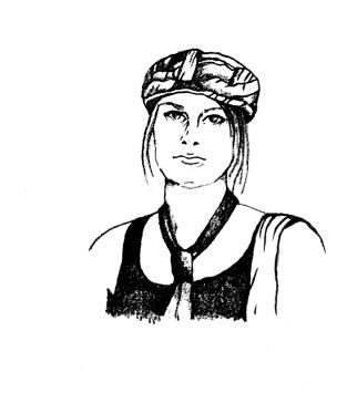 Melissa Sketch Black and White